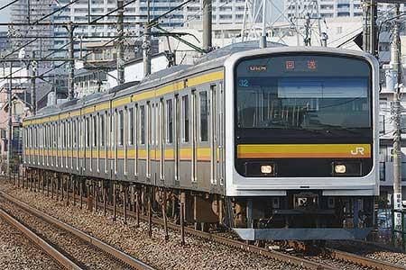 南武線209系0番台ナハ32編成が国府津へ