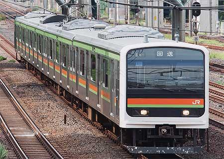 209系3000番台ハエ61編成が東京総合車両センターへ