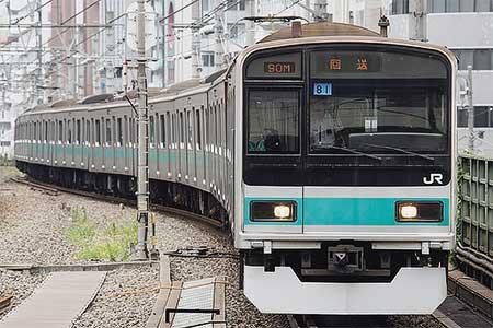209系1000番台マト81編成が東京総合車両センターへ
