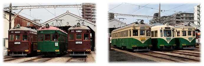 阪堺電軌,モ161形車・金太郎塗装車の各ラインナップ撮影会ツアーを実施