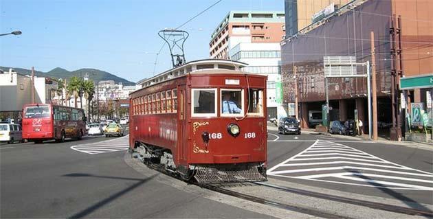 長崎電気軌道「明治電車168号」運転