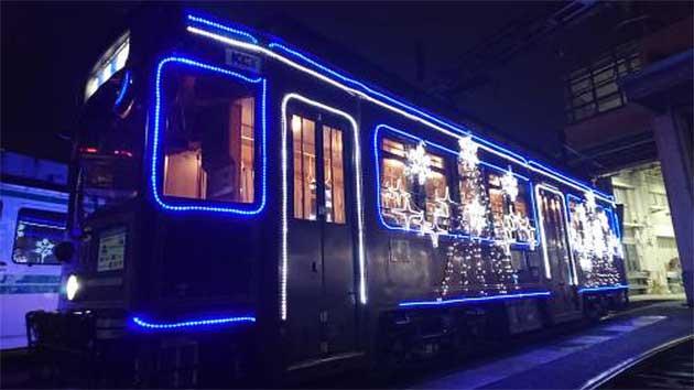 熊本市交通局で「イルミネーション電車」運行
