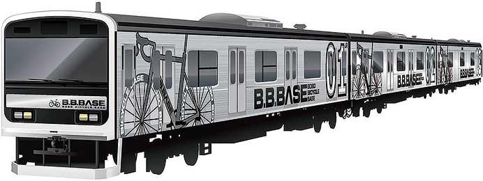 JR東日本,209系2200番台「B.B.BASE」展示会を開催