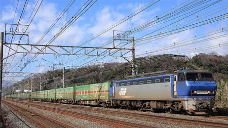 最高速度,110km/h以上!→東海道速達貨物列車