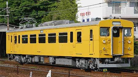 クモハ123-4が黄色に