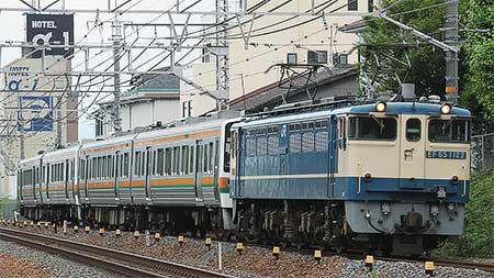 JR東海213系5000番台が甲種輸送される