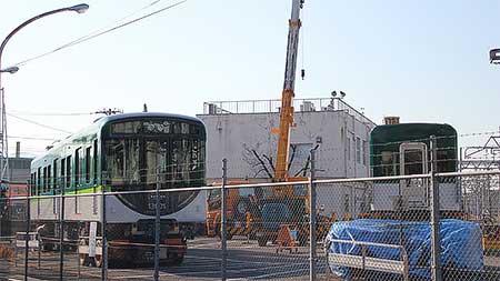 京阪13000系第1編成の搬入が終了