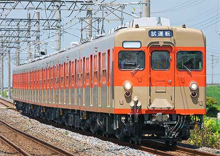 東武8000系8111編成が試運転