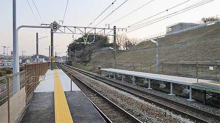 鹿児島本線でホーム延長工事