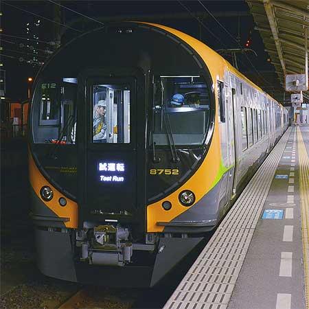JR四国8600系の試運転が始まる