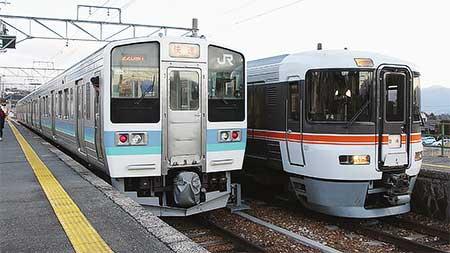 飯田線で373系の普通列車登場