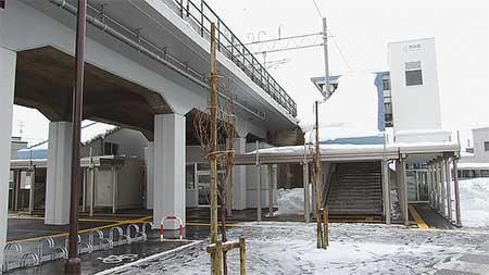 青い森鉄道の新駅「筒井駅」が開業