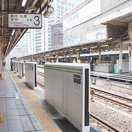 山手線有楽町駅で可動式ホーム柵の設置工事