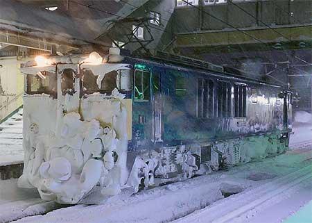 鉄道ニュース上越線・信越本線で架線凍結防止臨時単行機関車列車運転