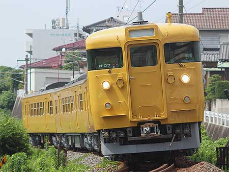 下関総合車両所から115系3000番台の広島更新色編成が消滅
