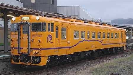 道南いさりび鉄道のキハ40形に新塗装車