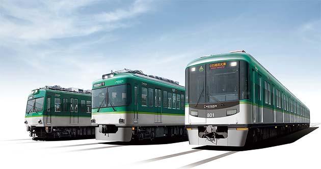 京阪,大津線全車両のカラーデザインを順次変更