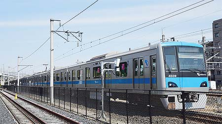 小田急電鉄4000形4059編成が大宮総合車両センターで構内試運転