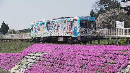 南阿蘇鉄道で「がんばれクマモト!マンガよせがきトレイン」運転開始