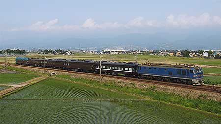 "SL""やまぐち""用35系客車が新山口へ"