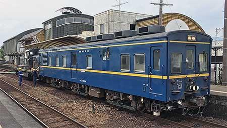 マヤ34がくま川鉄道を検測