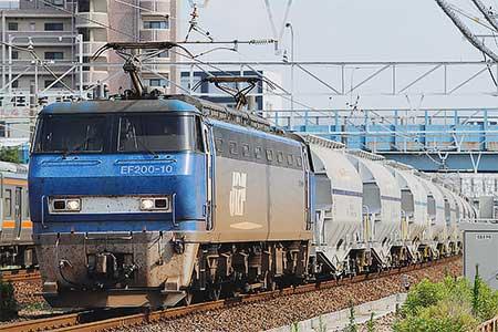 5580〜5767列車をEF200がけん引