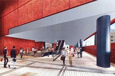 新駅舎内部の2018(平成30)年3月末時点のイメージ