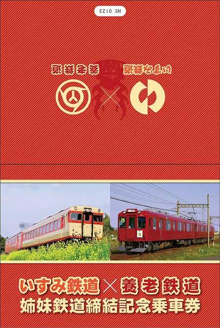 姉妹鉄道締結記念乗車券の台紙