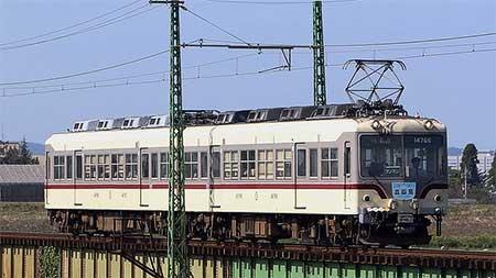 """富山地鉄の特急""""立山""""号が14760形と10030形で運転される"""