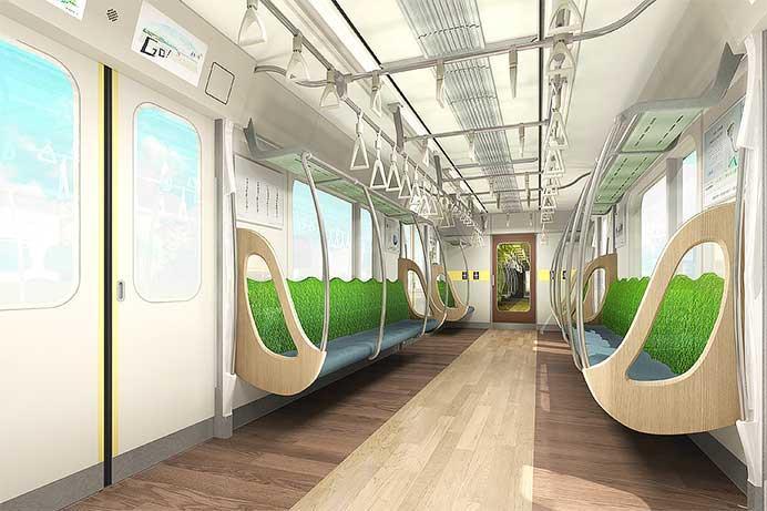6020系のインテリアイメージ(東京急行電鉄提供)