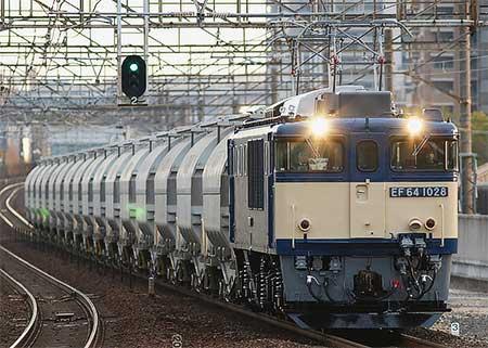 EF64 1028が5580〜5767列車をけん引