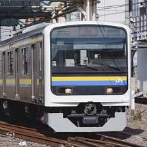 209系C435編成が大宮総合車両センターから出場