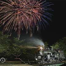若桜鉄道にてC12 167ライトアップおよび撮影会開催