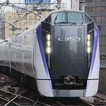 E353系が試運転で東京まで入線