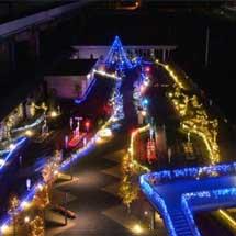 鉄道博物館で「冬のイルミネーション点灯」実施