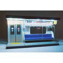 内装模型通勤電車(青色シート)