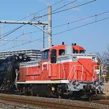 D51 498と旧形客車6両・オヤ12 1が回送される