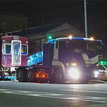 能勢電鉄1500系1551編成が廃車陸送される