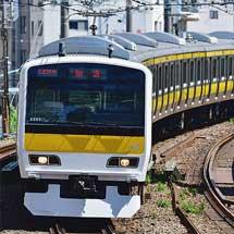 E231系トウ503編成が中央・総武緩行線仕様となり出場