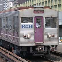 大阪市交 30系ステンレス車,中央線で試運転