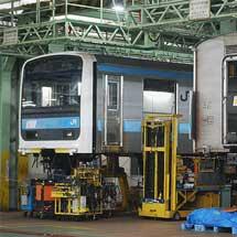 東京総合車両センターで転用改造中の209系