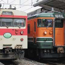 115系訓練車が中央東線(辰野線)を走る
