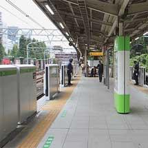 山手線原宿駅に可動式ホーム柵が設置される