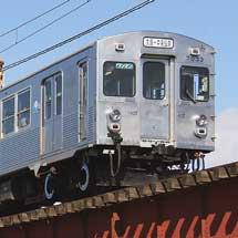弘南鉄道7000系,前面警戒帯なしで営業運転