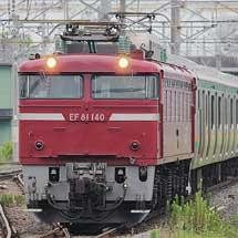 E231系U51編成が配給輸送される