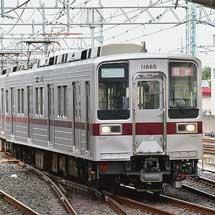 東武鉄道伊勢崎線草加駅の引上線が使用開始される