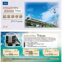 「新型特急リバティ愛称決定記念乗車券」発売
