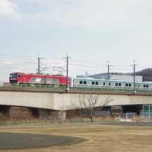 E721系1000番台4両2本が甲種輸送される