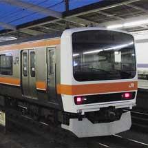 209系500番台M72編成が秋田から返却される