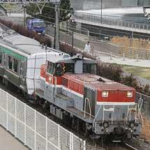 E721系1000番台P4-19編成が甲種輸送される